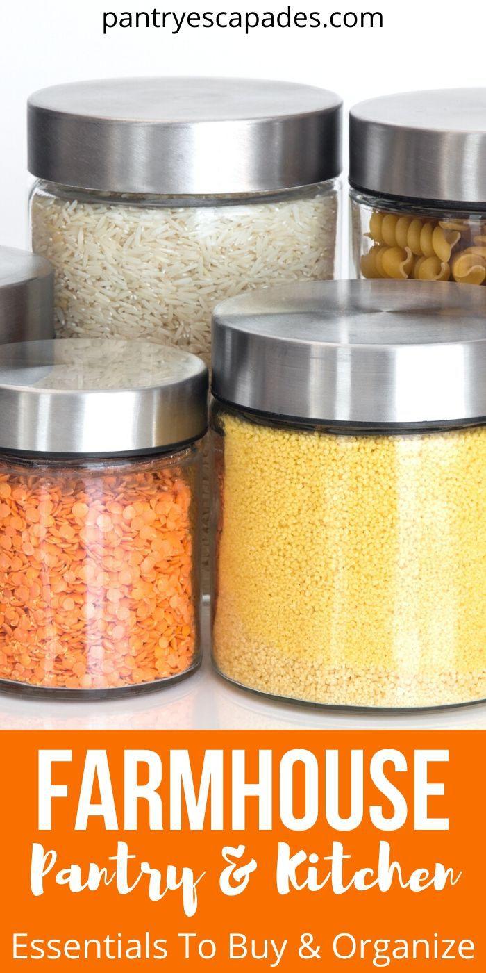 Best Farmhouse Style Pantry Organization & Kitchen Accessories