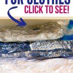 Space Saver Bags | Vacuum Seal Bags | Best Vacuum Sealer Bags | How to Use a Vacuum Sealer Bags | Vacuum Sealer Clothes Organization | Organizing Clothes with Vacuum Sealer | #vacuumsealer #organization #diy #clotheskonmori #decultter #springcleaning