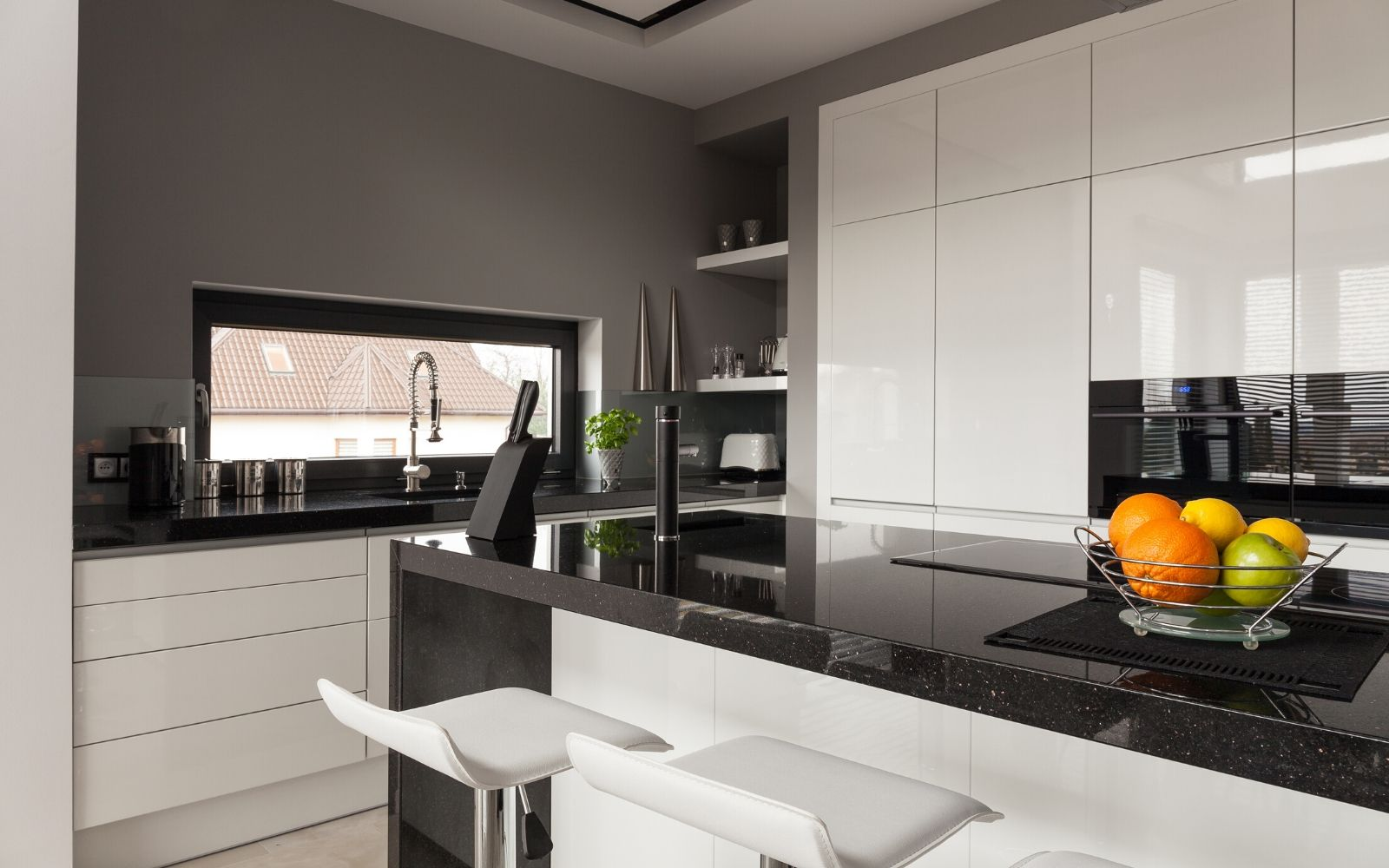 Bold Black And White Kitchen Accessories Pantry Escapades