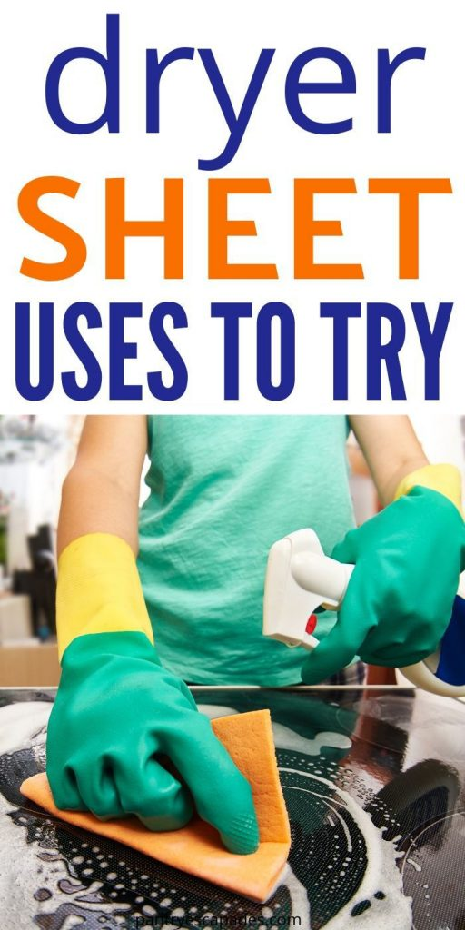 clever ways to use dryer sheets