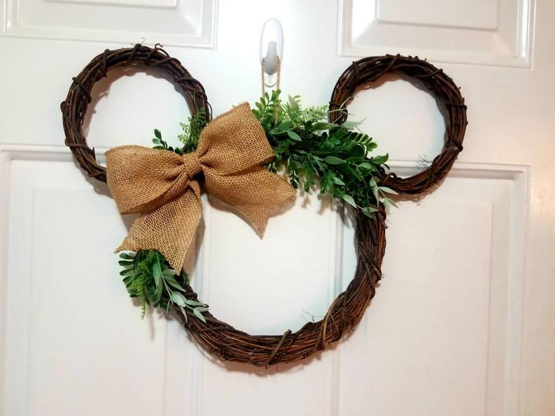 Disney mickey mouse farmhouse style wreath