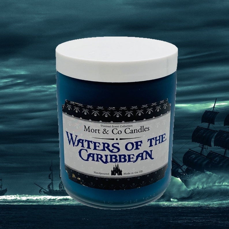 waters of the caribbean Disney scented candle